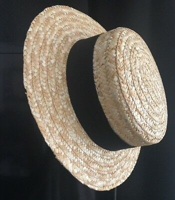 Boater Hat - Perfect Summer Accessory For Your Vacation - Made In Italy - SZ 55