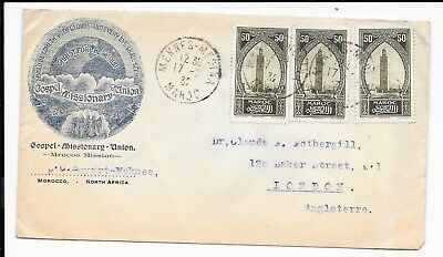 Morocco Cover To Uk Mrocco Mission Gospel 1932