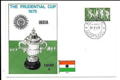 India 1975 Cricket Cup Cover  . The Prudential Cup