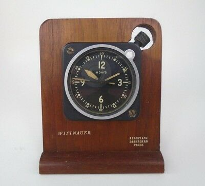 Vintage Wittnauer Aeroplane Dashboard Clock Mounted AFUS Army Type A-11 WWII