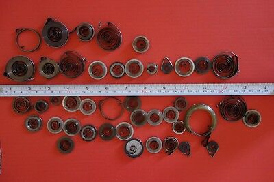 Job-lot-43-Clock-Mainsprings-all-new-assorted-sizes