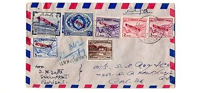 Bangladesh - 1972 Registered cover with overprinted Pakistan used postage stamps