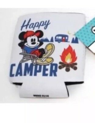 """Disney Mickey Mouse """"Happy Camper"""" Beverage Koozie - Can Cooler"""