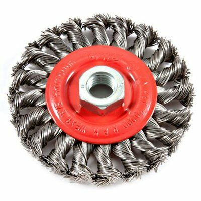 """Forney 72759 4 Inch Coarse Wire Brush Wheel With 5/8""""-11 Nut Upc:032277727595"""