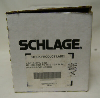 Schlage L9010-07A-612 Passage Lock Locksmith Satin Bronze - RH