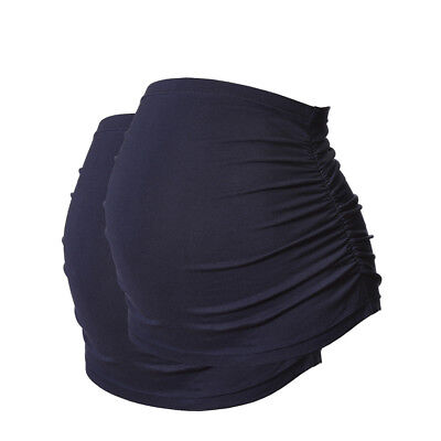 Ruched Maternity Belly Bands/Bump Bands by Harry Duley. Cotton. Pack of 2 Navy