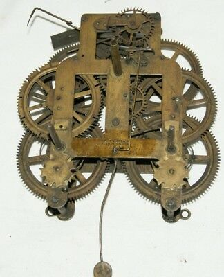 Antique SETH THOMAS Shelf/Parlour/Wall Clock Movement, Spares/Repair