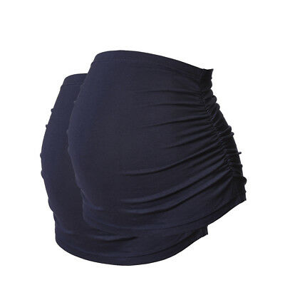 Plus Size Ruched Maternity Belly Bands/Bump Bands by Harry Duley. Pack of 2 Navy