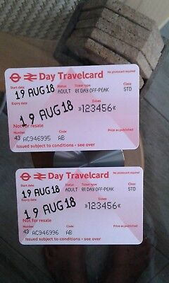 2 Day travelcard London Zones 123456 - 19 Aug 18