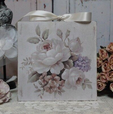 """Shabby Chic ~ Vintage ~ Country Cottage style ~ Wall Decor Sign ~ """"Shabby Roses"""""""