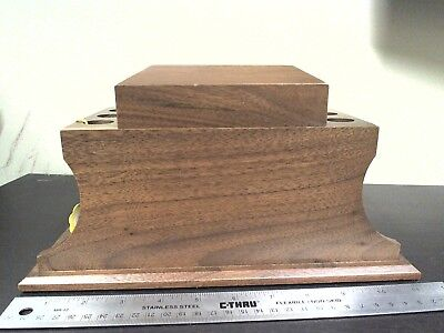 Vintage Pipe Holder and Humidor Decatur Industries Hand Crafted of USA Walnut