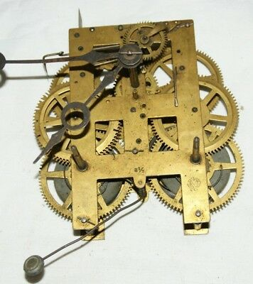 Antique NEW HAVEN Shelf/Parlour/Wall Clock Movement, Spares/Repair