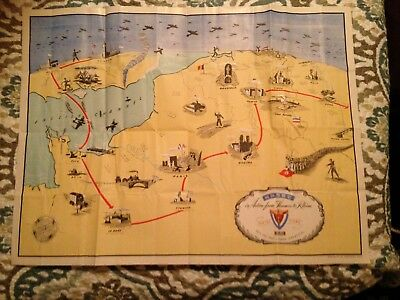 Battle Map  ADSEC  Action from Thames to Rhine Battle of the Bulge WWII