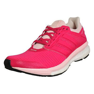 655bb7938 Adidas SuperNova Glide 8 Boost Womens Running Shoes Fitness Gym Trainers  Pink