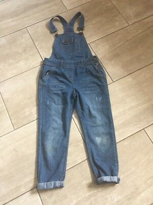 Lovely Girls Denim Dungarees Age 7-8 From George