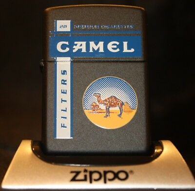 Camel Zippo - CZ 313 Black Matte Camel Filters - Only 200 made! - Mint in Box