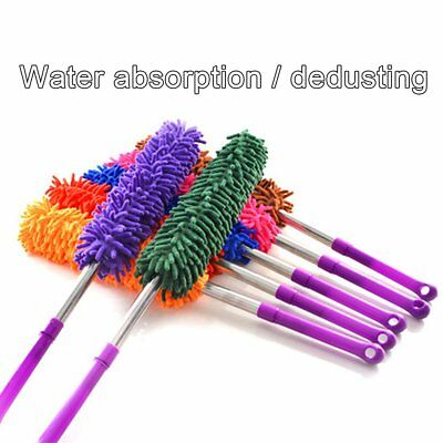 Extendable Microfibre Duster Adjustable Dusting Brush Long Handle Sweeper NP