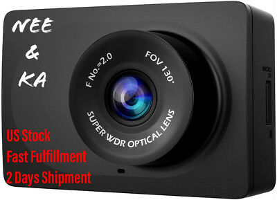 "YI Compact Dash Cam, 1080p Full HD Car Dashboard Camera with 2.7"" LCD Screen New"