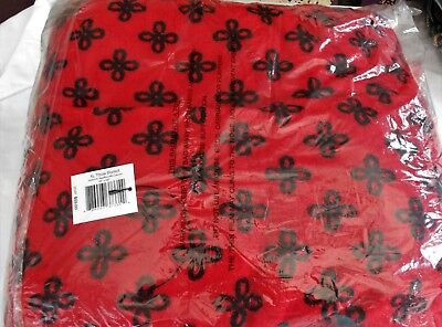 """Vera Bradley Mini Concerto Red/Black XL Throw Blanket 94"""" by 66"""" NEW with TAG"""