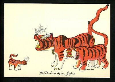 Costumes / Clothing postcard United Nations Dolls Artist Curro Japan tigers