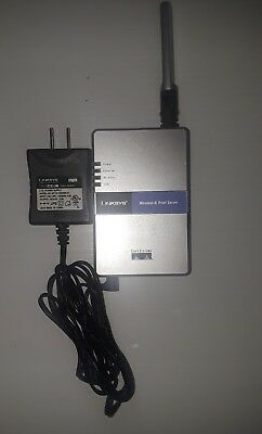Linksys WPS54G Wireless Print Server with Power Supply