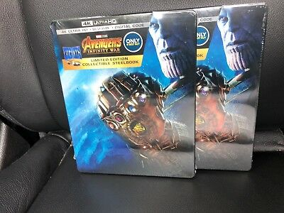 One Steelbook Avengers Infinity War 4K Ultra HD & Blu Ray 2018  w/ Digital Code