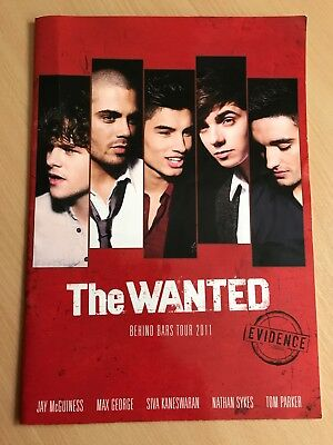 The Wanted - Behind Bars Tour Autographed by all Band! Genuine Article!
