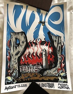 Pearl Jam Poster Away Shows 2018 Missoula Montana 08/13/18 Jeff Ament
