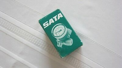SATA 71050   Air Micrometer with Gauge new in the Box Rare Green Early Style !