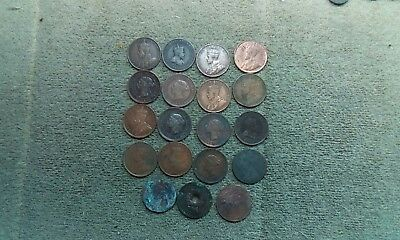 Canada Large Cent Lot (19 Coins)