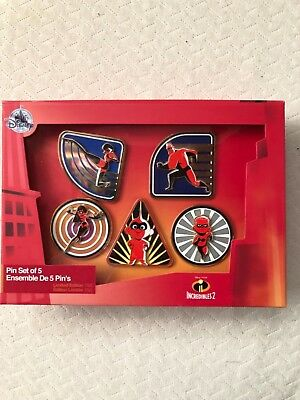 Disney's Incredibles 2 Limited Edition (of 750)  Box Set Of 5 Pins Pixar