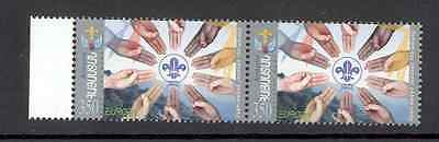 Armenia - Strip of two Stamps 2007 MNH ** Europa, Scout Emblem