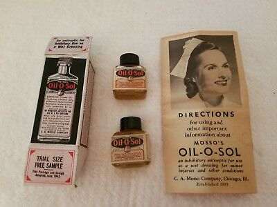 Mosso's Oil-O-Sol Vintage Antiseptic