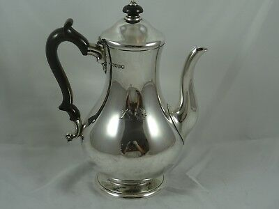 STUNNING VICTORIAN silver COFFEE POT, 1885, 728gm