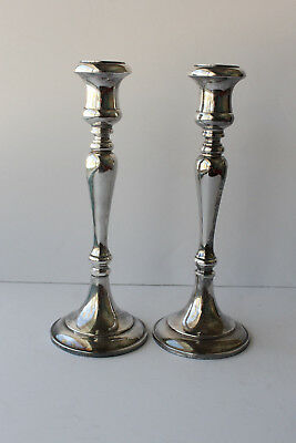 Antique Sheffield Silverplate Candlesticks Made in Italy                   (J12)