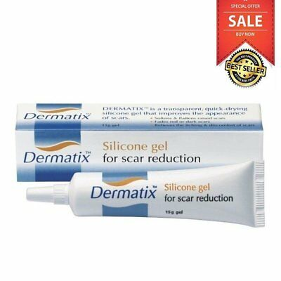 Dermatix Silicone Gel 15G For Scar Reduction Transparent Quick-Drying Scaml