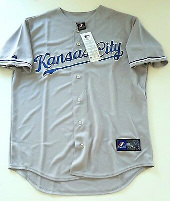 MAJESTIC KANSAS CITY ROYALS MLB Official Baseball Jersey Shirt USA MADE Men's L