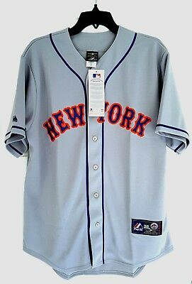 MAJESTIC NEW YORK METS Official MLB Baseball Jersey Shirt Authentic New Men's L