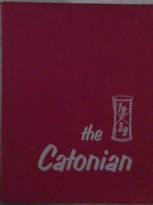"""1959 Catonsville Md High School Yearbook """"the Catonian"""""""