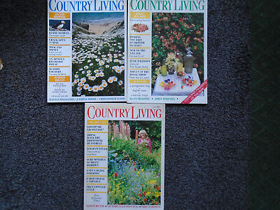 Country Living UK editions. Three issues from July of 1986/87/88.