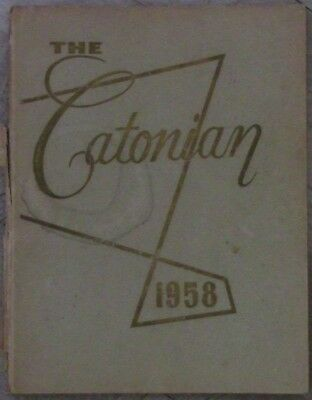 """1958 Catonsville, Md High School Yearbook """"the Catonian"""""""