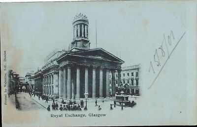 Real Exchange, Glasgow Valentine Postcard - dated 15 August 1907