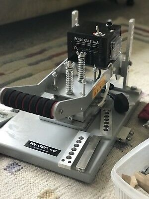 FOILCRAFT 4x3 hot foil embossing machine- leather keyrings, cards, books etc
