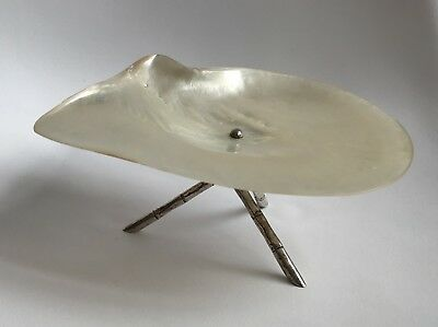 19th Century Pearl Dish C 1890 By Wang Hing Chinese Export Silver 8 Inches! Rare