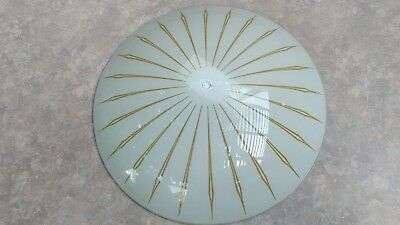 VINTAGE MID CENTURY MODERN ATOMIC STARBURST 15 in. CEILING LIGHT GLASS FIXTURE