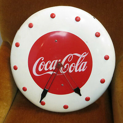 Vintage 1948 COCA-COLA Metal Wall Electric Clock (AC300) *Not Running*