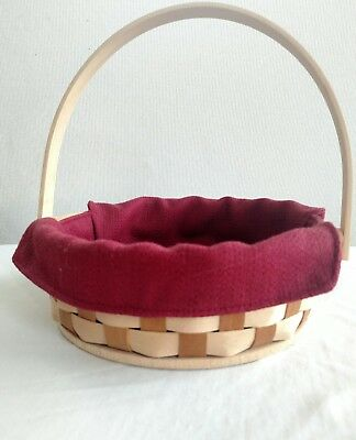 Longaberger Small Pie Basket with Paprika liner