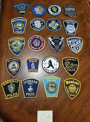 LOT OF 20 DIFFERENT POLICE PATCHES  NEW/MINT CONDITION  lot#01
