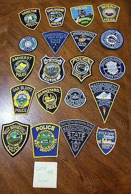 LOT OF 20 DIFFERENT POLICE PATCHES  NEW/MINT CONDITION  lot#02