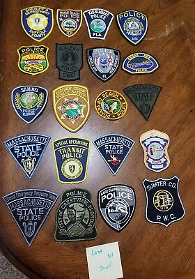 LOT OF 20 DIFFERENT POLICE PATCHES  NEW/MINT CONDITION  lot#04